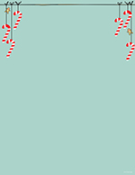 Minty Candy Canes Letterhead 80CT