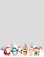 Winter Friends Letterhead 80CT