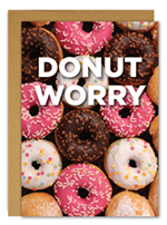 Donut Worry Encouragement Card 3CT