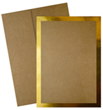Kraft Gold Flat Card Invitation 20CT