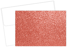 Salmon Glitter Note Card 15CT