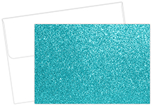 Teal Glitter Note Card 15CT