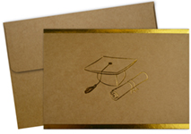 Grad-Itude Gold Foil Thank You Notecard 50CT