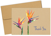 Paradise Faux Kraft Thank you Notecard 50CT