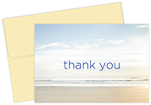 Serene  Beach Thank You Notecard 50CT