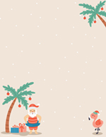Tropical Santa Holiday Letterhead 80CT
