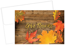 Give Thanks Foil Thank you Notecards, 50 CT