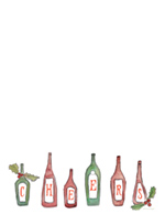 Holiday Cheers  Hand Illustrated Holiday Letterhead 80CT