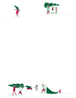 Christmas Tree Delivery  Hand Illustrated Letterhead 80 CT