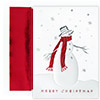 Cozy Snowman Holiday Card
