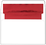 Red Foil Lined A8 Envelope