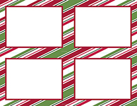 Holiday Stripes 4 Up Postcard
