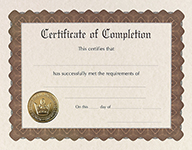 Completion Stock Certificate 6CT