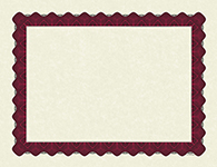 Metallic Red Certificate 100 CT