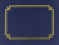 Navy Linen Certificate Cover 3CT