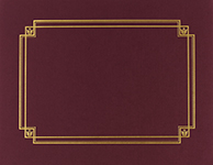 Burgundy Linen Certificate Cover 3CT