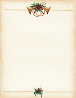 Antique Horns Letterhead 25CT