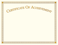 Achievement Certificate 15CT