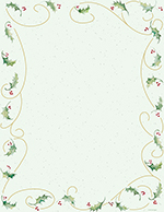 Holly Bunch Letterhead 80CT