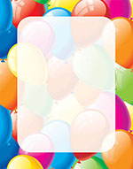 Balloon Border Letterhead 80CT