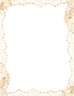 Gold Party Letterhead
