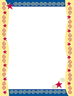 Red Stars & Swirls Letterhead