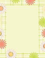Daisy Plaid Letterhead 80CT