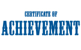 Clip Art - Certificate Of Achievement 2