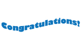 Clip Art - Congratulations Wave