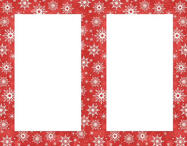 Snowy Flakes 2 Up Invite 50CT