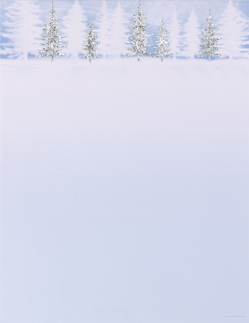 Winter Treeline Foil Letterhead 40CT