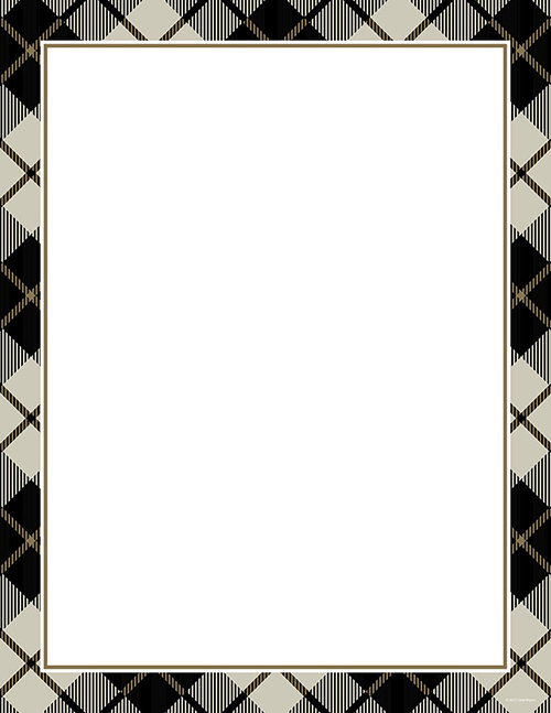 Black Plaid Letterhead 80CT