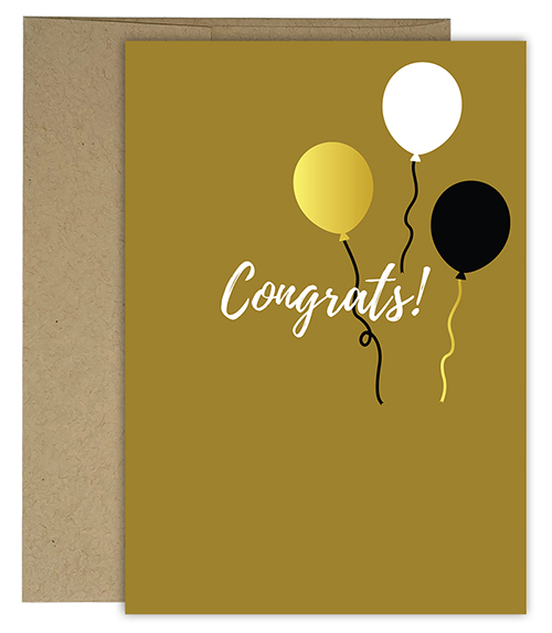Balloon Congratulations Card 3 CT