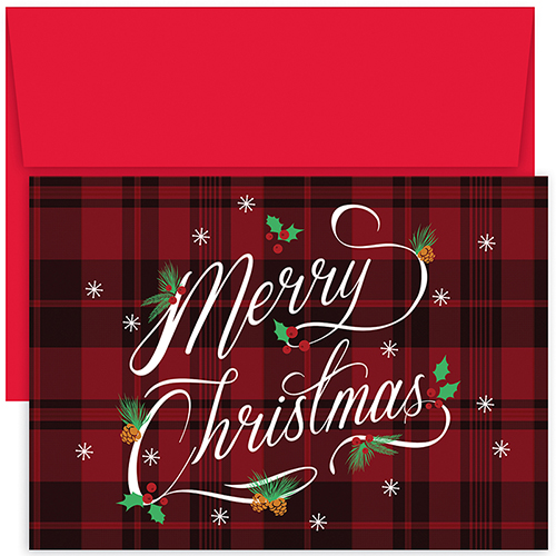 Plaid Merry Christmas Holiday 18CT