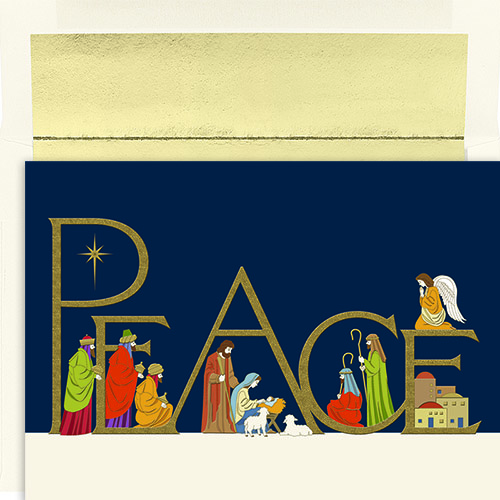 Peaceful Night Holiday Card 16CT