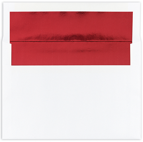 Red Foil Lined A7 Envelope 25CT