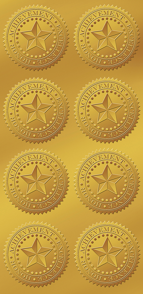 Star Gold Foil Seal  48CT