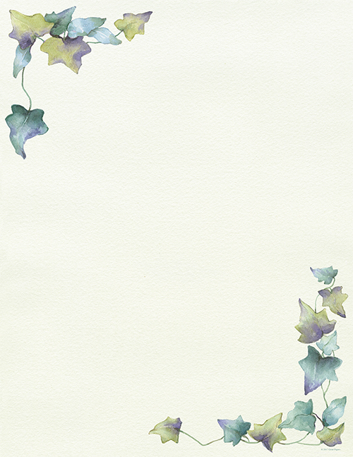 Painted Border Letterhead 80CT