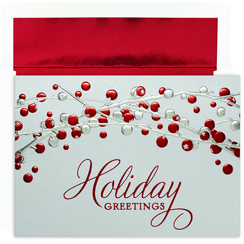 Holiday Berries Holiday Cards 16CT