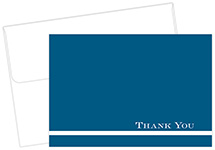 Midnight Blue Thank You Notecard 24CT