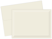 Triple Embossed Ivory Note Card 50CT
