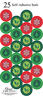 Holiday Circles Glitter Seal 25CT