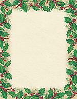 Dancing Holly  with Berries Letterhead 80CT