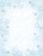 Blue Flakes and White Snowflakes Letterhead 80CT