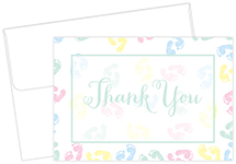Baby Feet Thank You Notecard 24CT