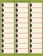 Pinecone Garland Address Label 150CT