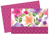 Watercolor Flora Notecard 24CT