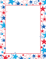 Red White And Blue Stars Letterhead 80CT