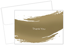 Gold Brush Thank You Card 50CT