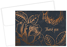 Copper Flower Thank You Notecard 50CT